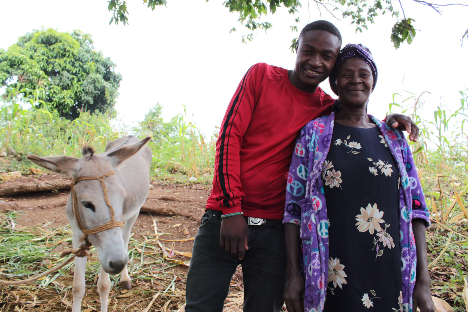 Dieula was able to put her son through school as a result of economic empowerment.