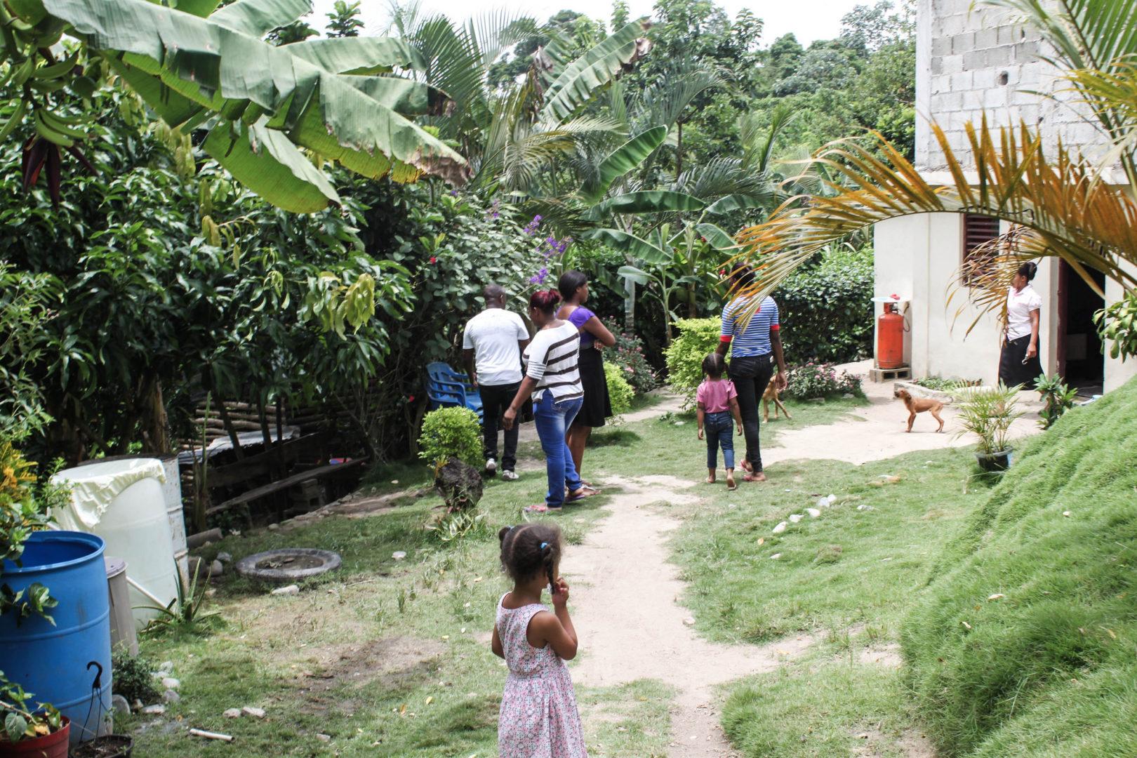A young girl surveys her home village of La Joya.