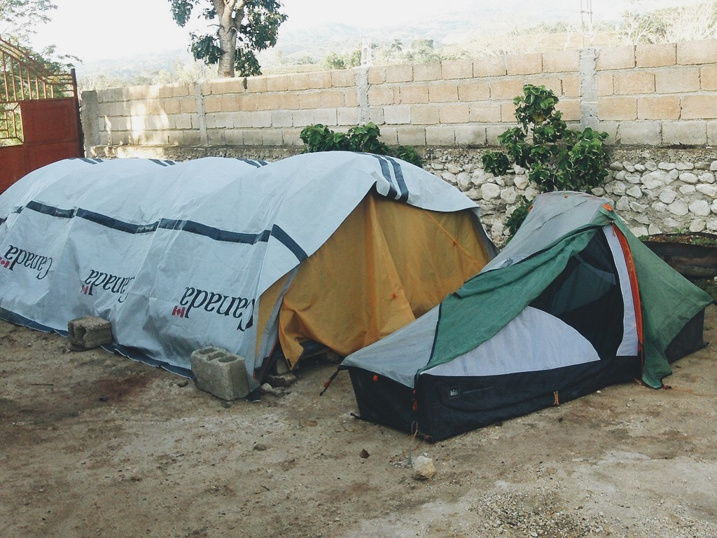 Relief tents were a common sight in Haiti in the days that followed the earthquake