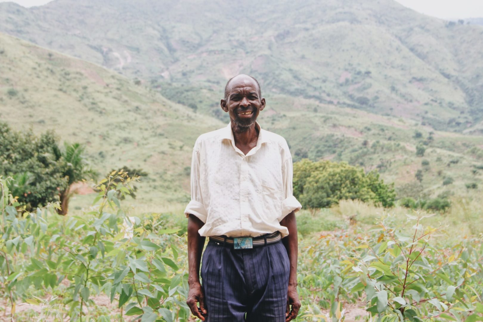 A farmer in Kasongo practices creation care through sustainable agriculture.