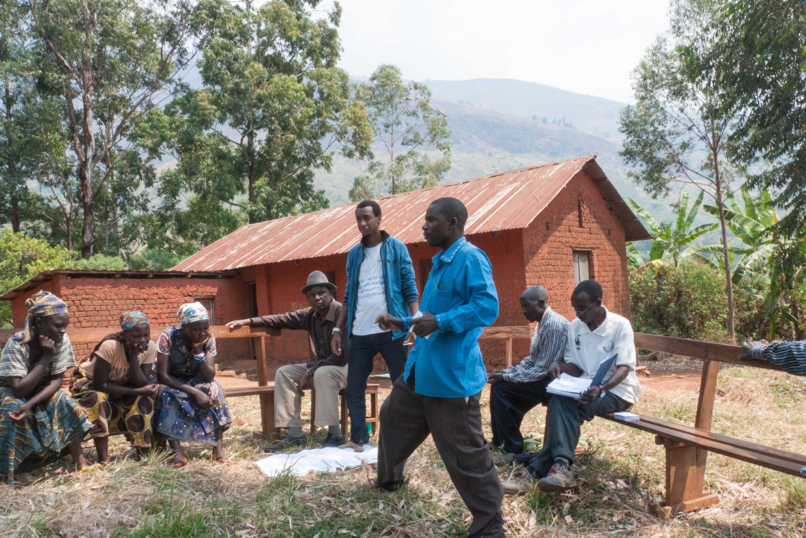 A team in DRC studies Scripture and Creation Care