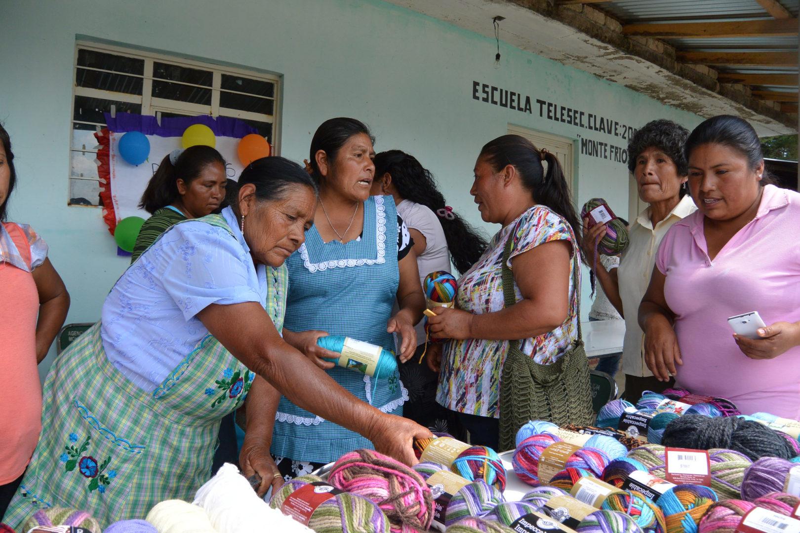 A handicraft market in Mexico