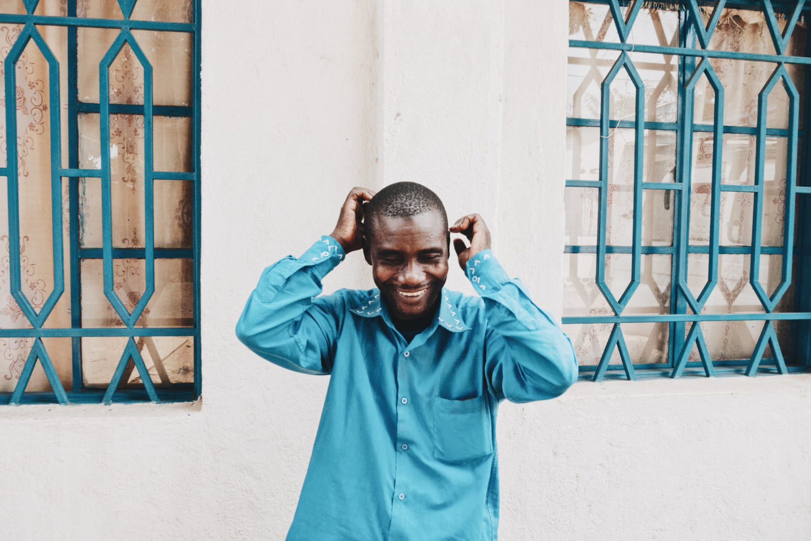 Jacob works as the environmental technician of Plant With Purpose DRC,