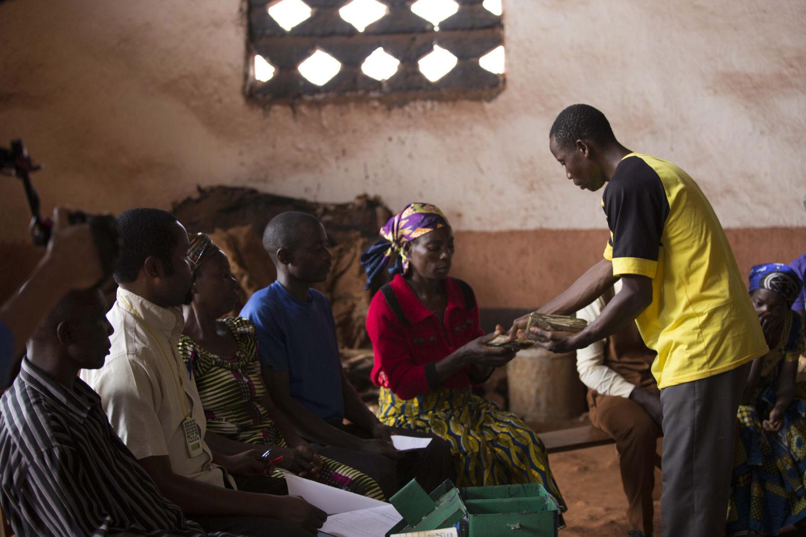 Facilitators at a savings group in DR Congo.