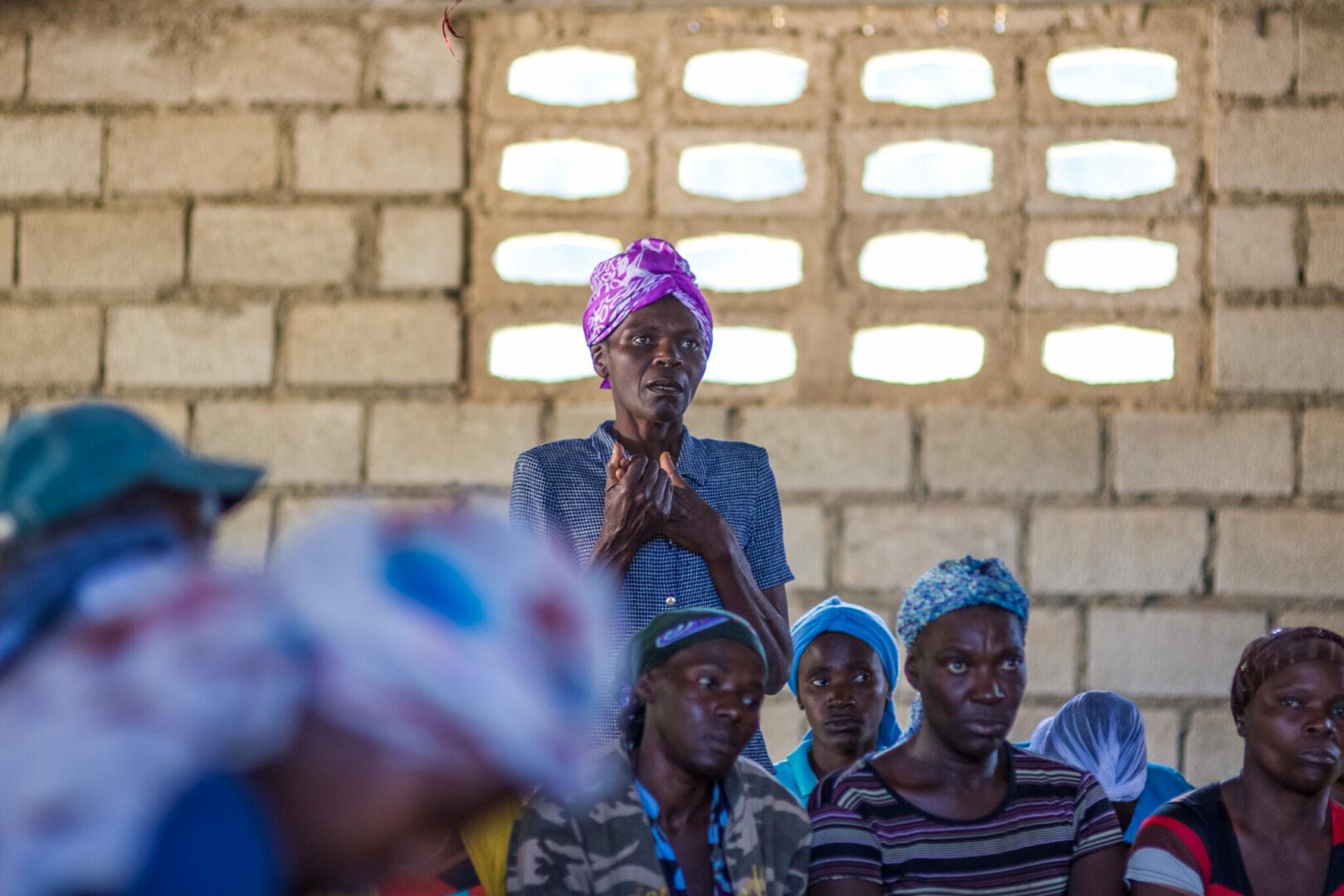 A savings group member proposes a loan.