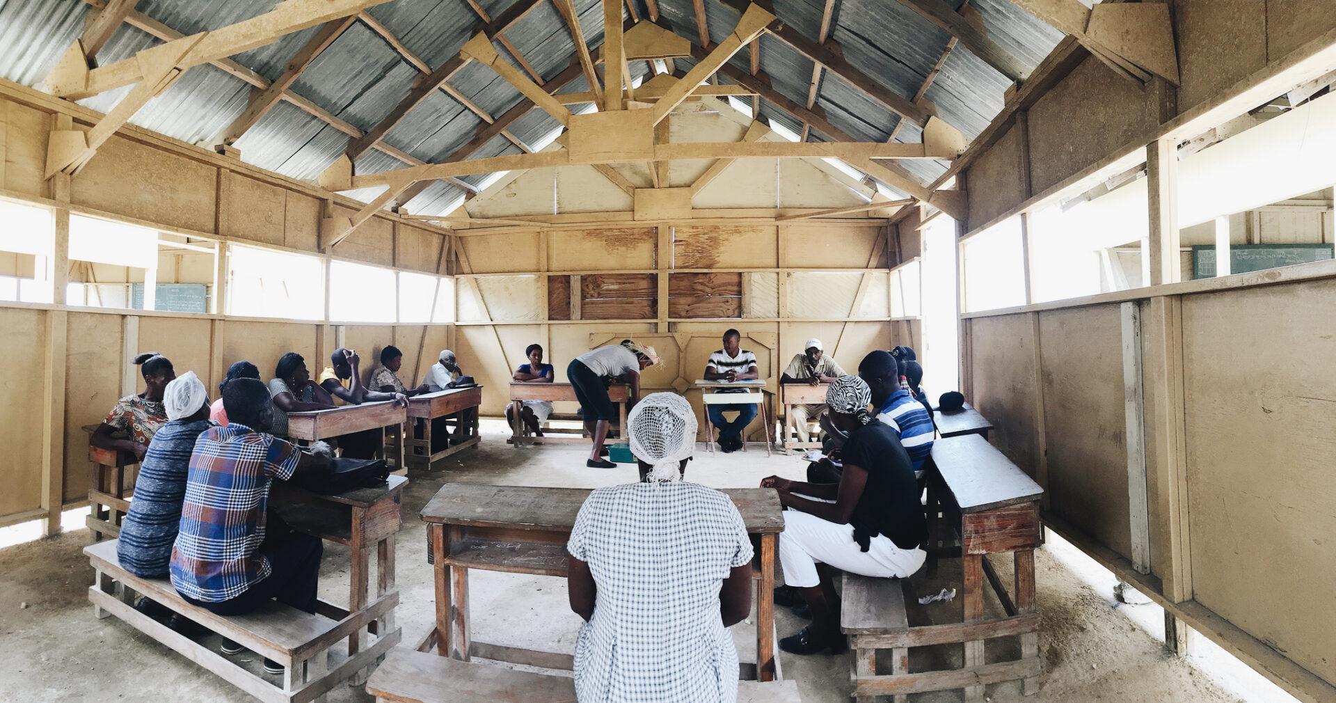 A Savings Group Meeting in Haiti