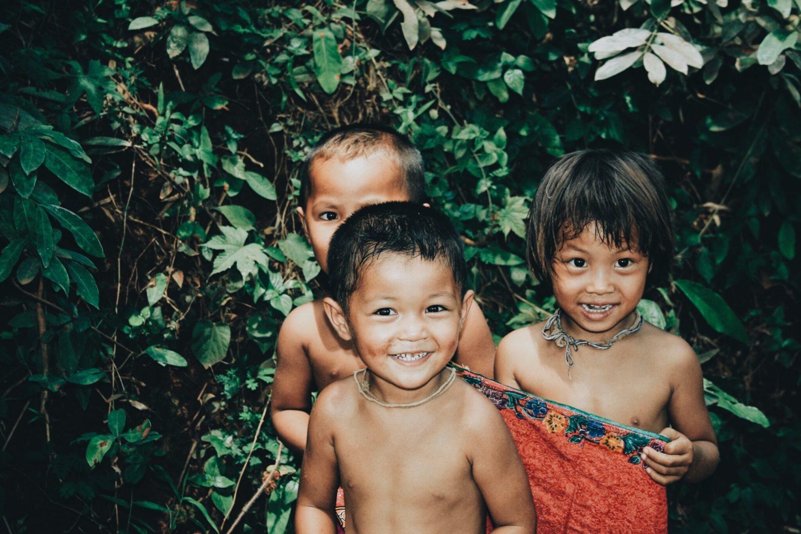 Kids in Panasawan, Thailand