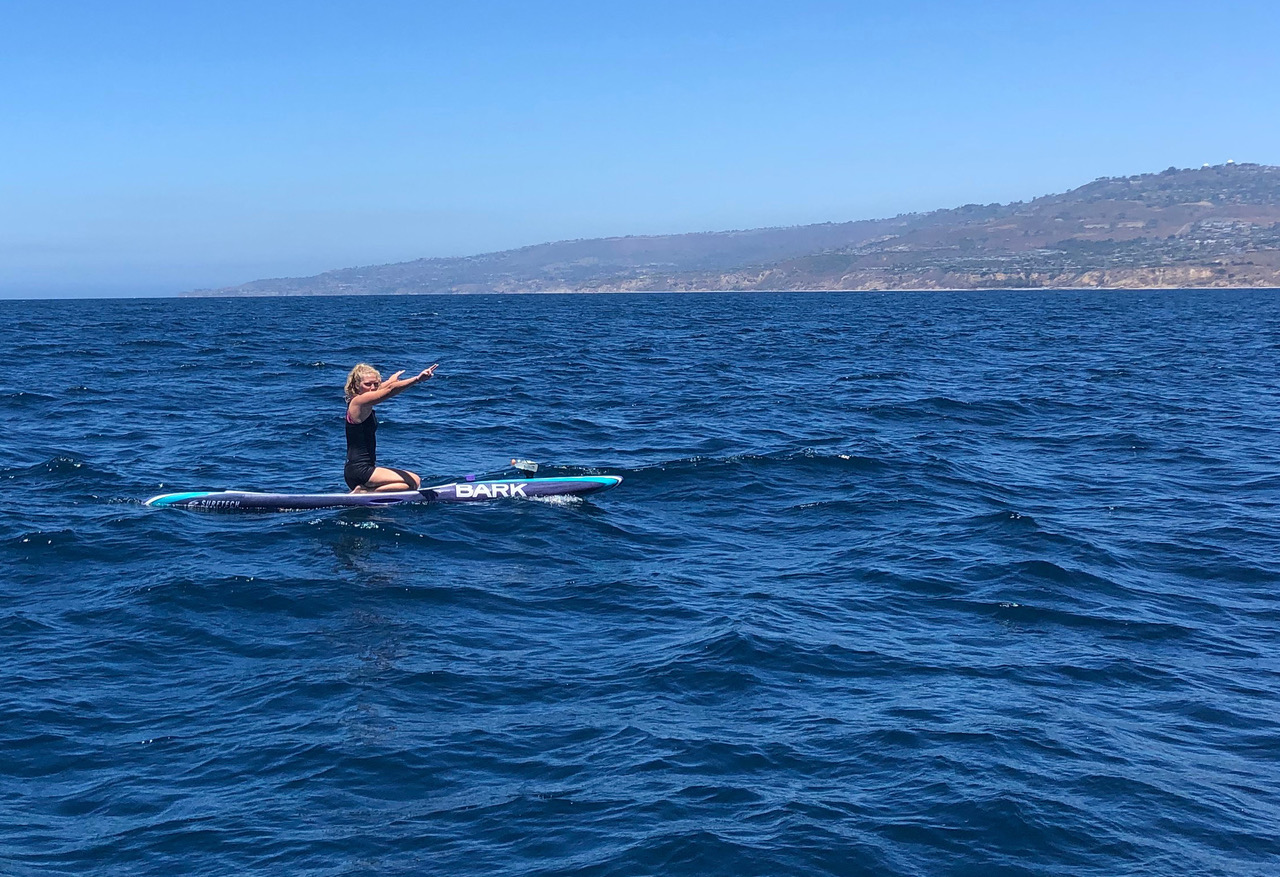 Emily on her paddleboard