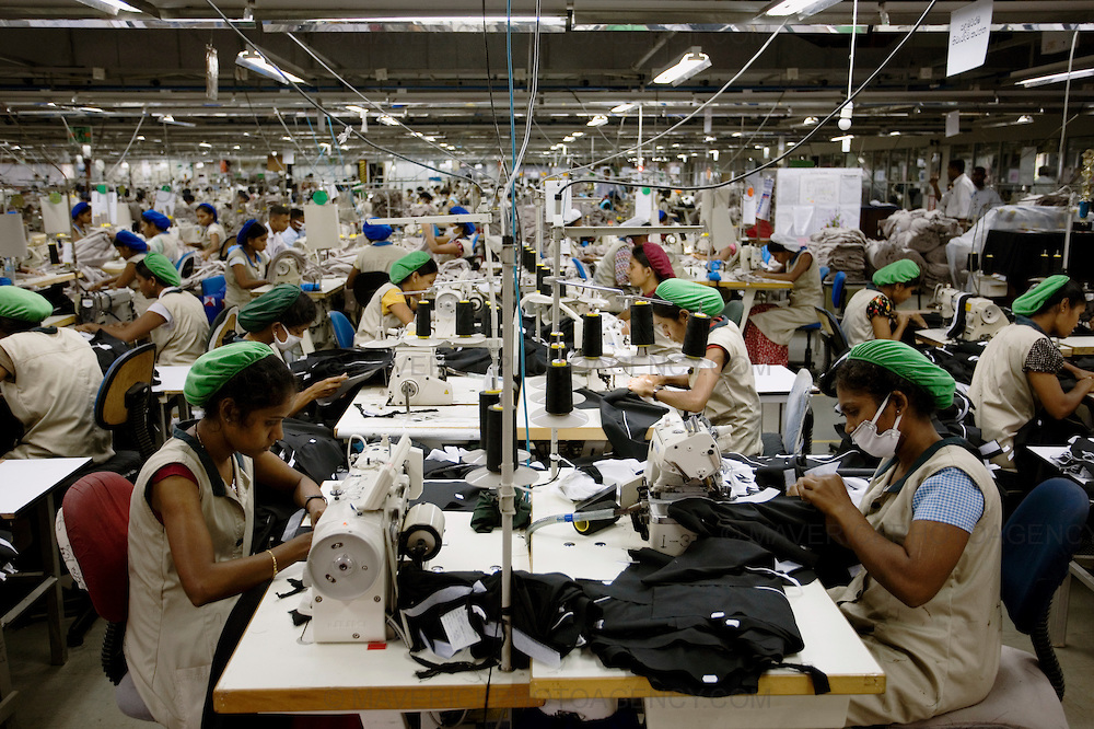 A garment factory in Colombo, Sri Lanka.