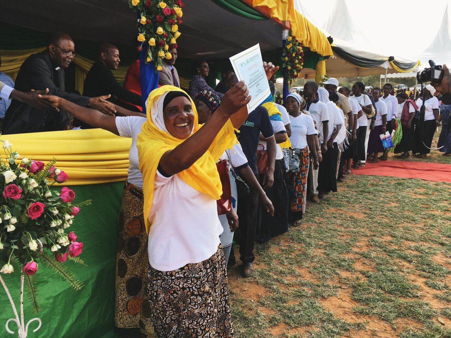 Communities in Tanzania celebrate trees planted