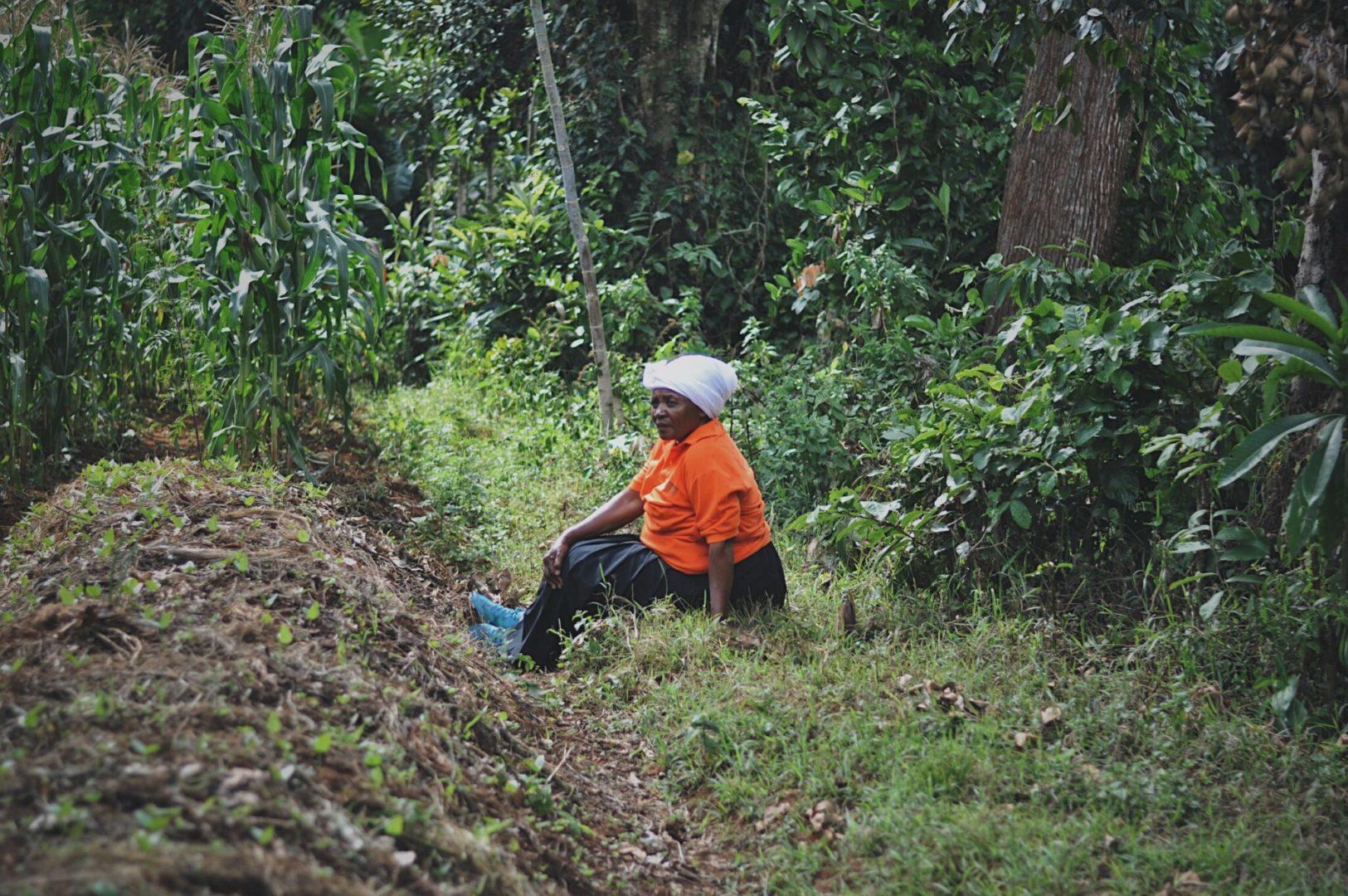 A farmer contemplates in Tanzania