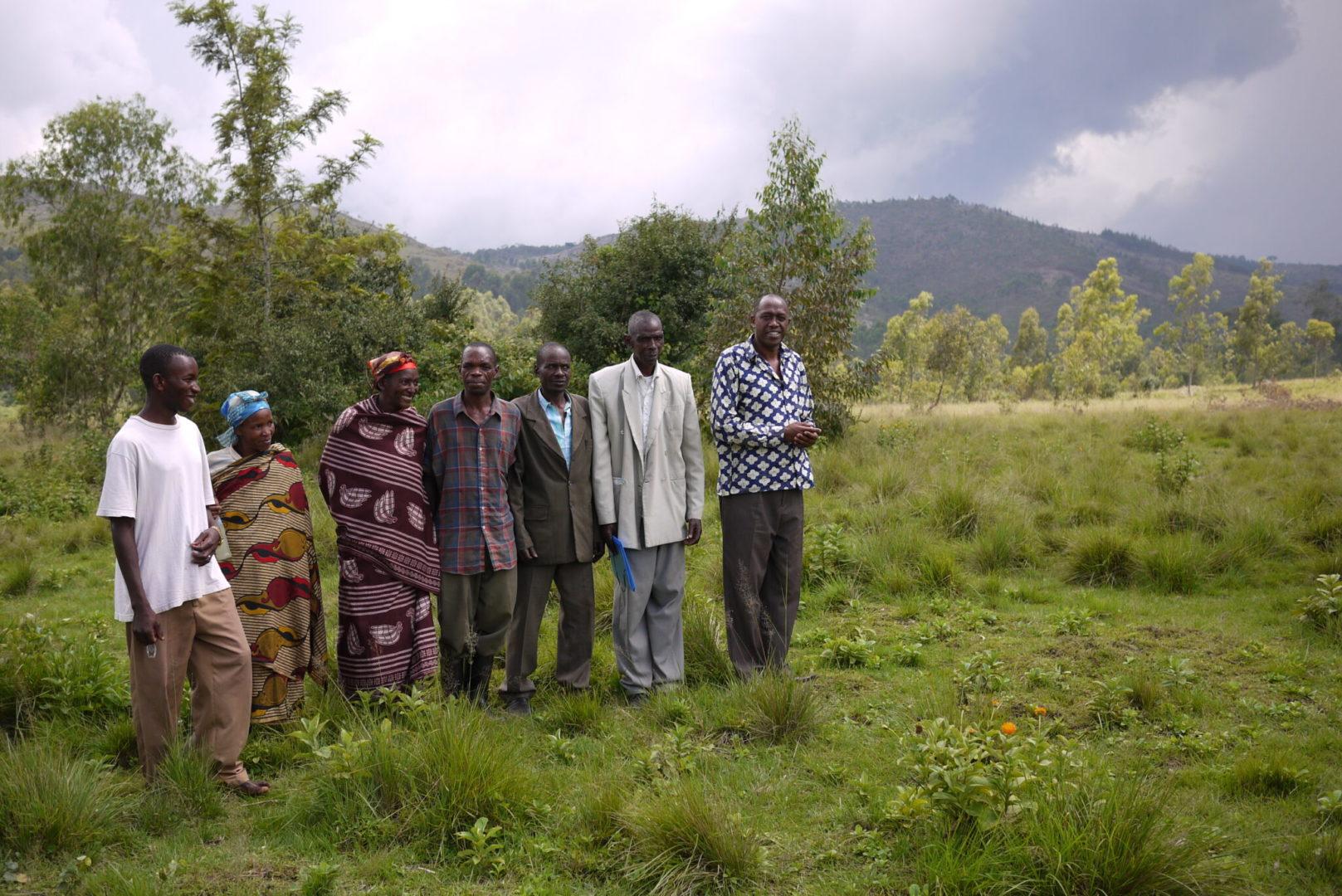 Kaganda with some of his neighbors.