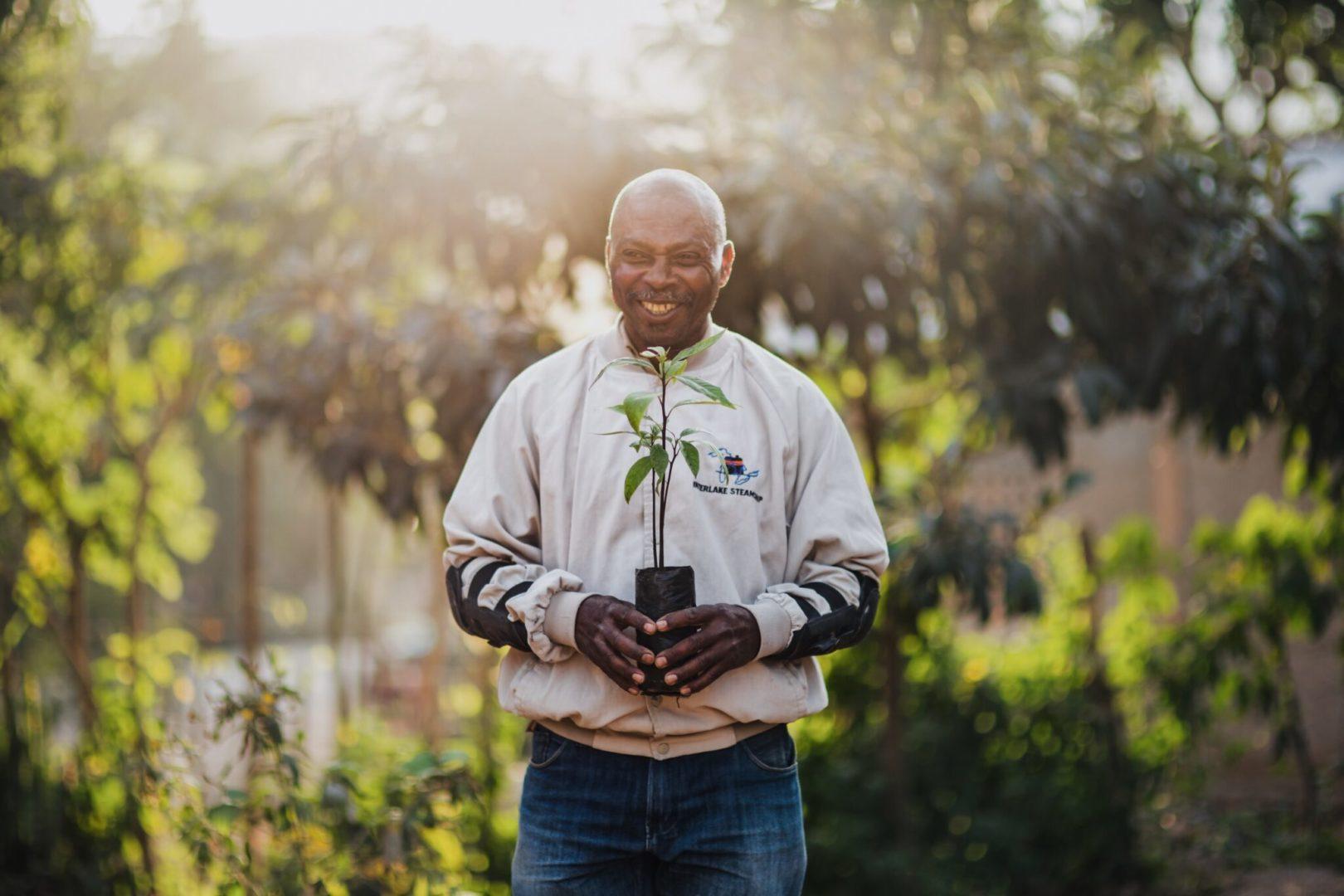 Wilner planting a tree