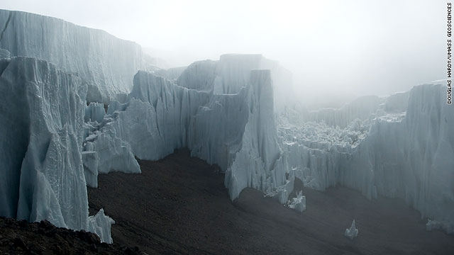 Glacier on Mt. Kilimanjaro - Photo by CNN