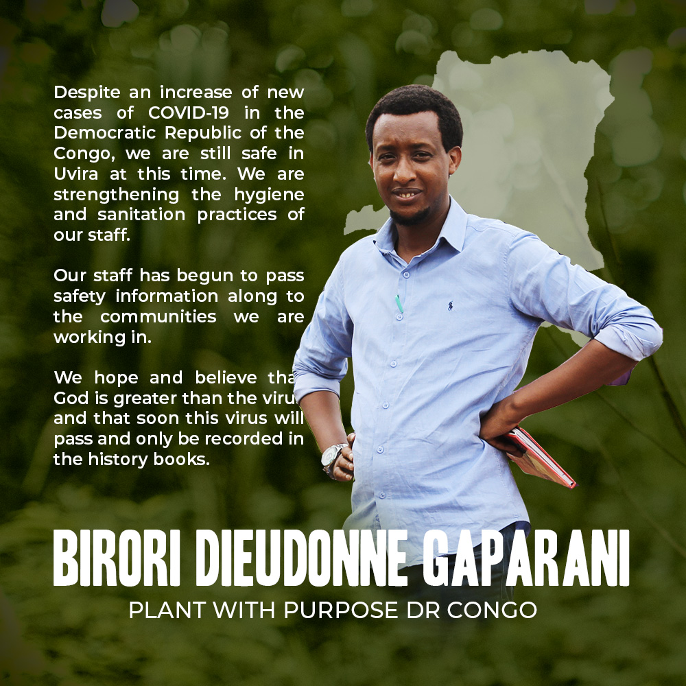 Plant With Purpose DR Congo responds to Covid-19