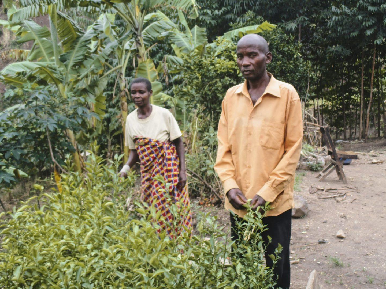 Petronie and her husband in Burundi