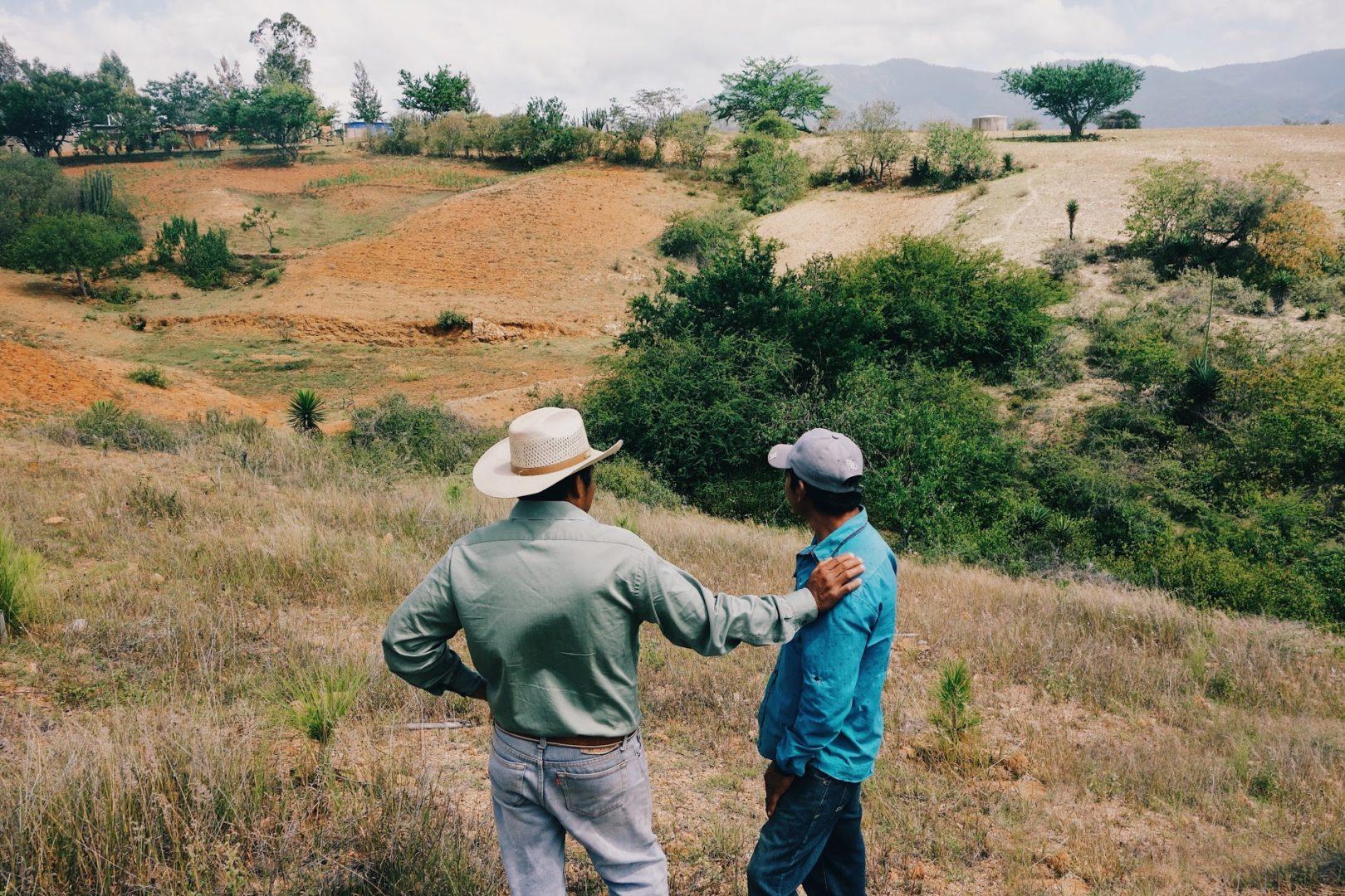 Overlooking hillsides and planning reforestation efforts in Chepeginio.