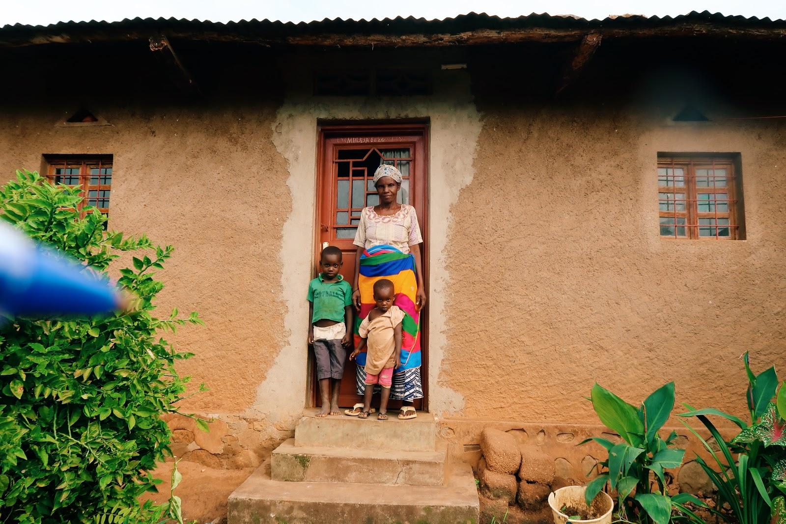 Yahaira with her grandchildren in Burundi facing climate change